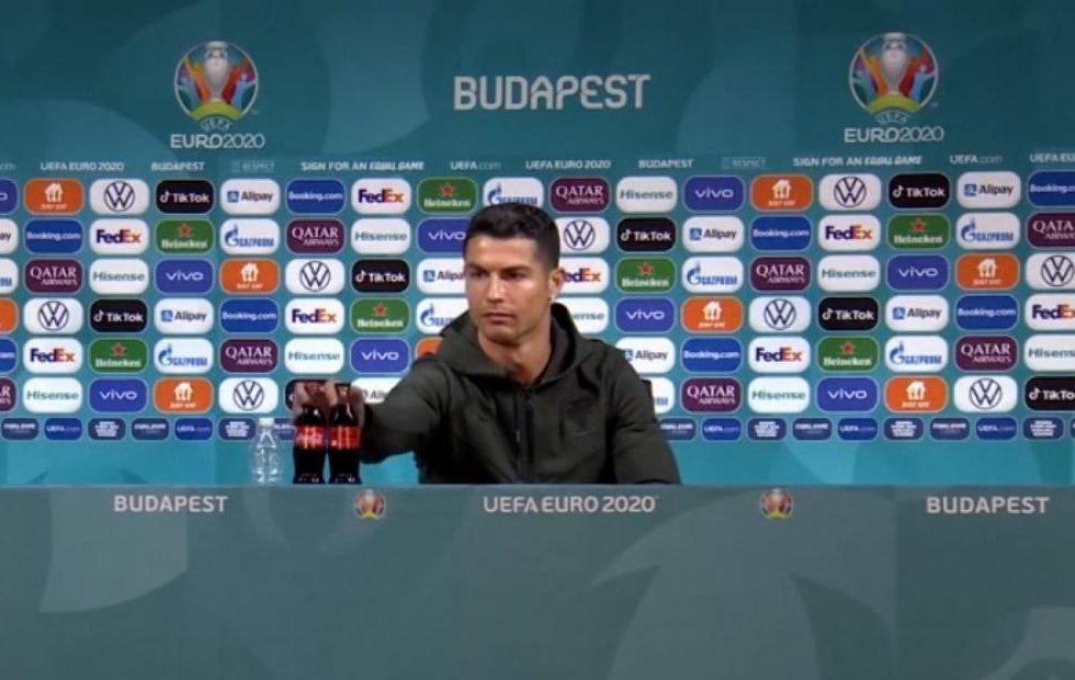 Cristiano Ronaldo upset over two bottles of Coca-Cola