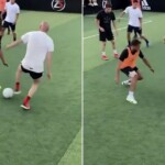At 49, Zidane dazzled with his dribbles in football 5 and the video went viral