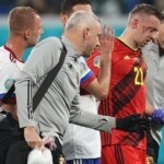 Brutal crash, six fractures and goodbye to the European Championship: the violent play that took a Belgian footballer out of the tournament