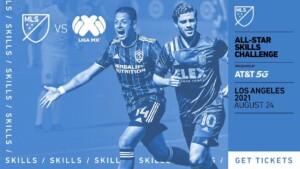 Chicharito and Vela, in the All-Stars Skills Challenge between MLS and Liga MX