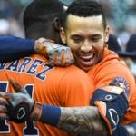 Correa explodes and Astros split double heat