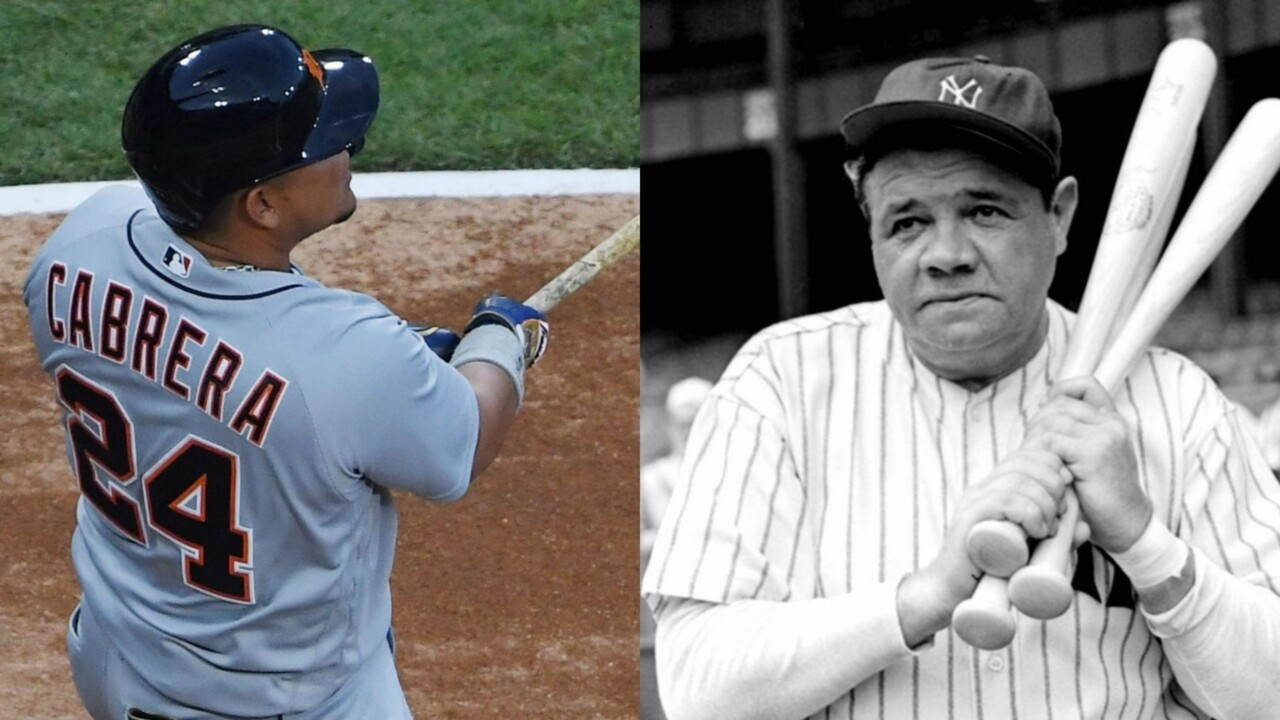 OF LEGEND: Miguel Cabrera equaled another Babe Ruth record in the Major Leagues (Video)