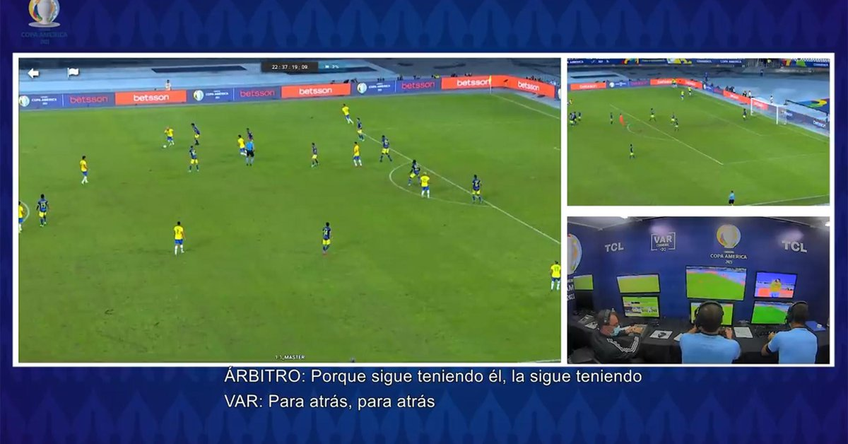 The audio of the VAR in the controversial play of the draw of Brazil against Colombia: the dialogue between Pitana and Vigliano