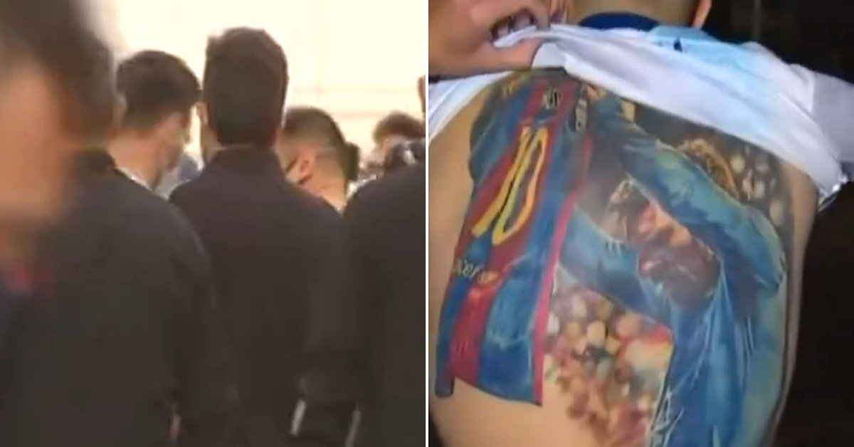 The moving moment in which Lionel Messi fulfilled the dream of the Brazilian fan who has him tattooed on his back