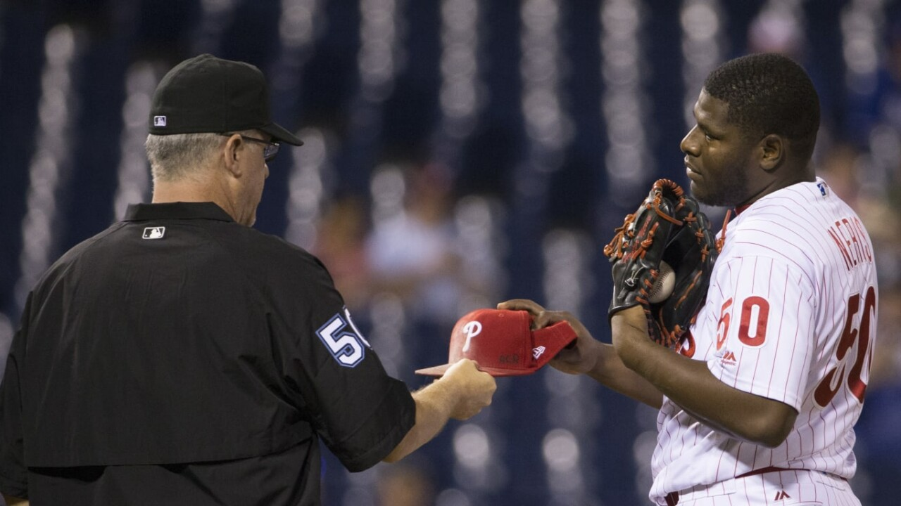 Umpires already screen pitchers for substances