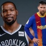 Kevin Durant goes crazy after learning about Messi's contract in Barcelona