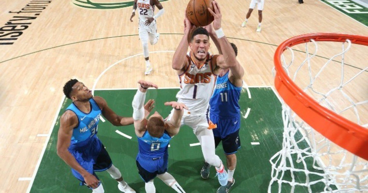 When are the NBA Finals played between the Phoenix Suns and the Milwaukee Bucks?