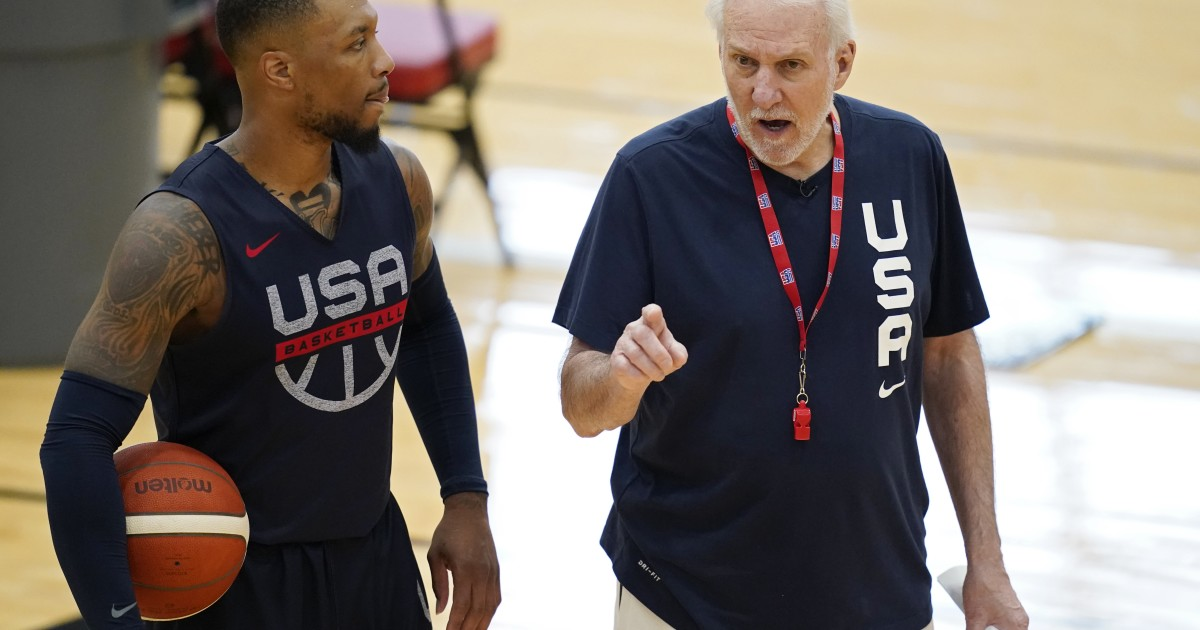 Popovich begins practice with US basketball team