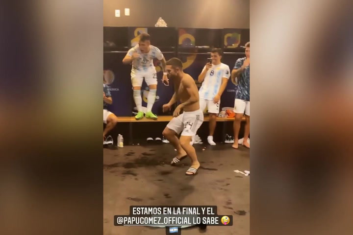 The hilarious dance of Papu Gómez and Emiliano Martínez, after the move to the final in Argentina