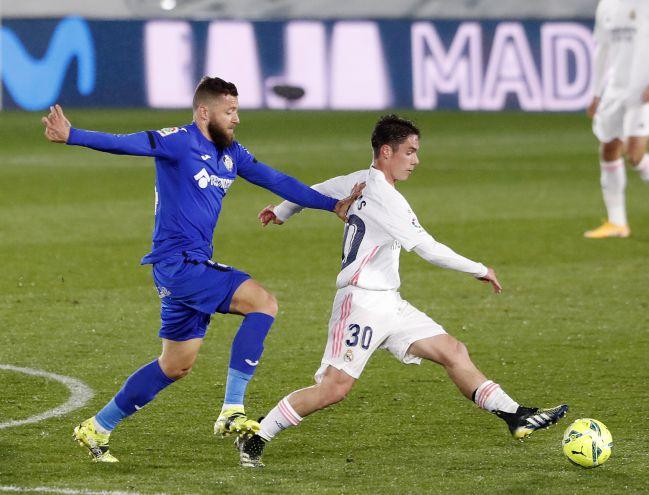 Sergio Arribas, at Real Madrid-Getafe.