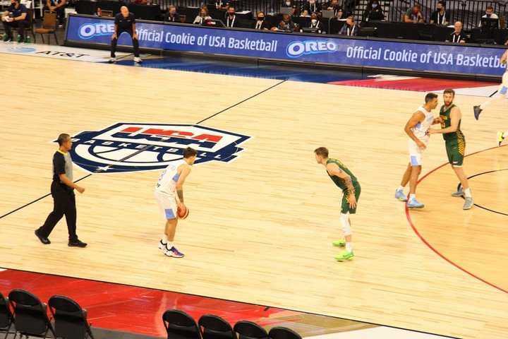 El Alma fell in Las Vegas against Australia in the first friendly heading to Tokyo 2020. (Photo Press CAB)