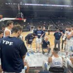 The Argentine basketball team lost to Australia in Las Vegas