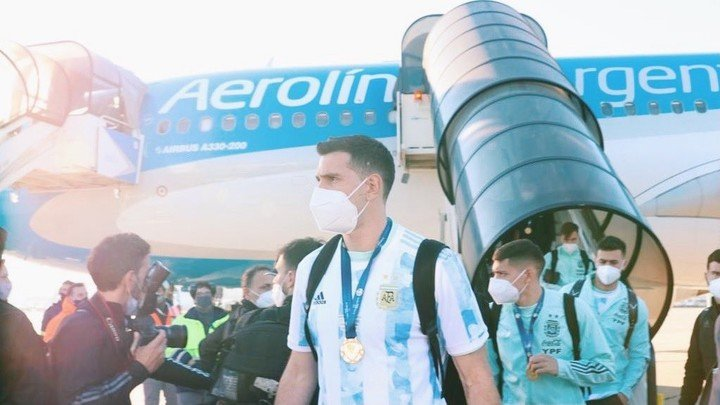 The National Team is already in Argentina.