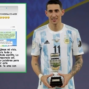 Di María's premonitory chat with her partner