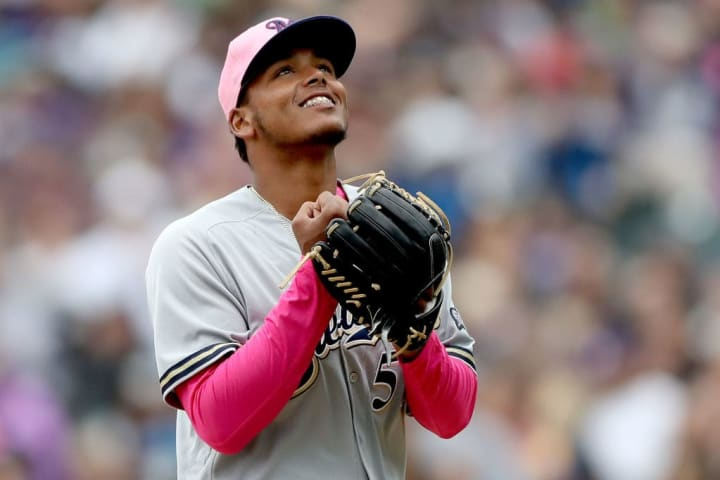 Freddy Peralta could set a new career-high for MLB pitcher wins this year with the Brewers