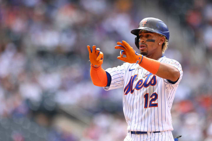 Shortstop Francisco Lindor finished the first half of the 2021 campaign with a .221 average and just 11 home runs with the Mets.