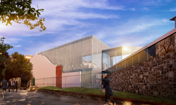 Animation of the northern view of Defensor Sporting Club,