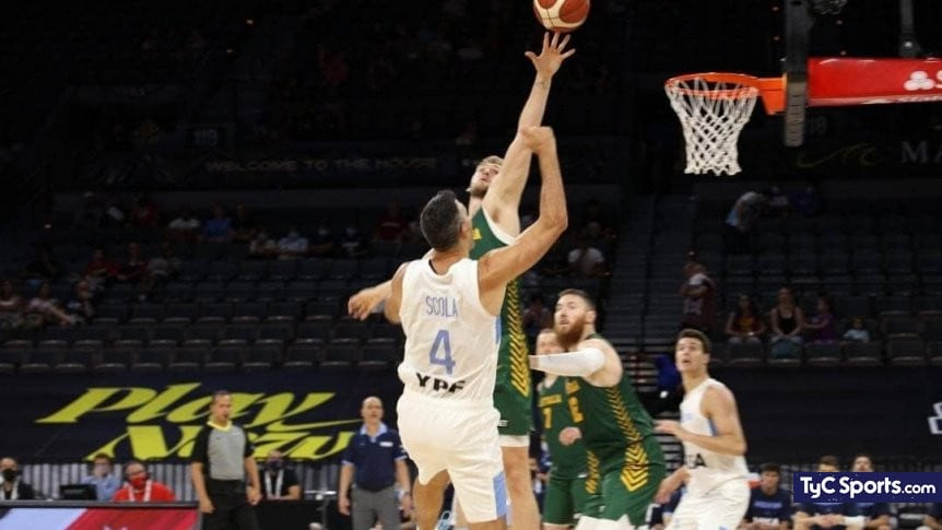 1626176094 The Argentine basketball team fell to Australia in the last