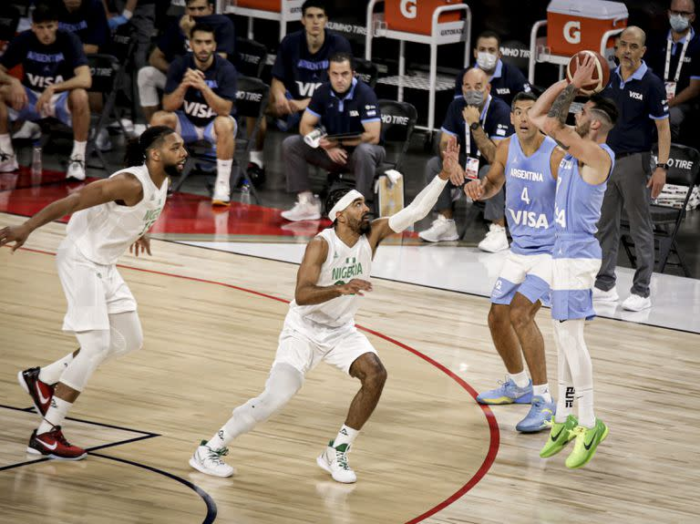Argentina fell & # xf3; against Nigeria in their second friendly in Las Vegas; Nigeria hilvan & # xf3; his second consecutive victory after his triumph against the American Dream Team