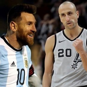 Ginobili's praise for Messi: two pure examples