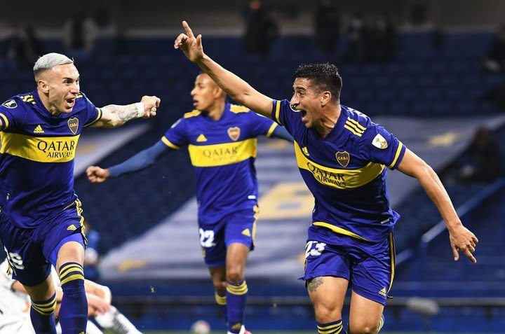 Diego González's goal cry.