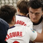Maguire's father, trampled and with two broken ribs after the Wembley incidents in the European Championship final