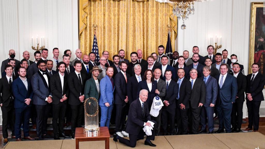 The Dodgers, hosted by Joe Biden