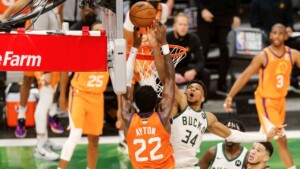 Giannis' blocking in Game 4 is reminiscent of LeBron in 2016