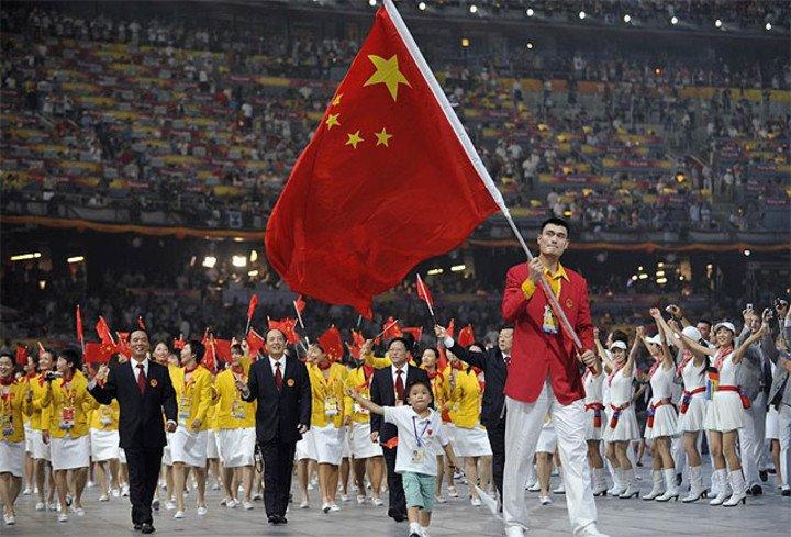 Yao Ming, Olympic flag bearer for China