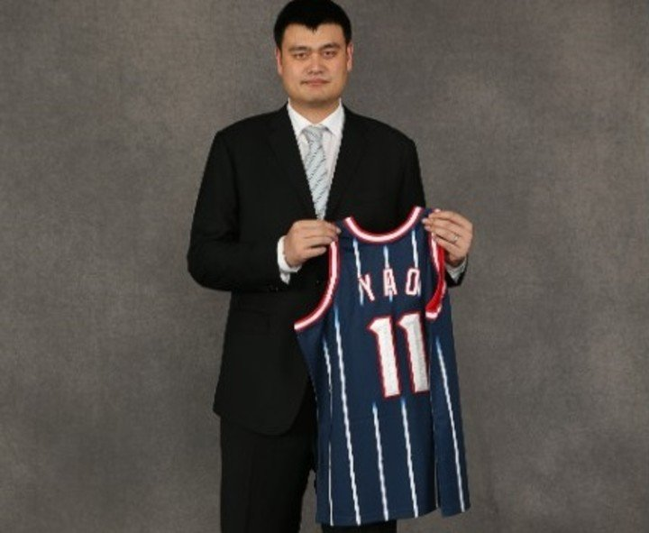 Yao Ming, inducted into the 2016 Hall of Fame