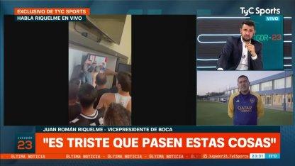 Riquelme, after the elimination of Boca: