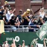Giannis and Bucks Celebrate 'Our Town' at Title Parade