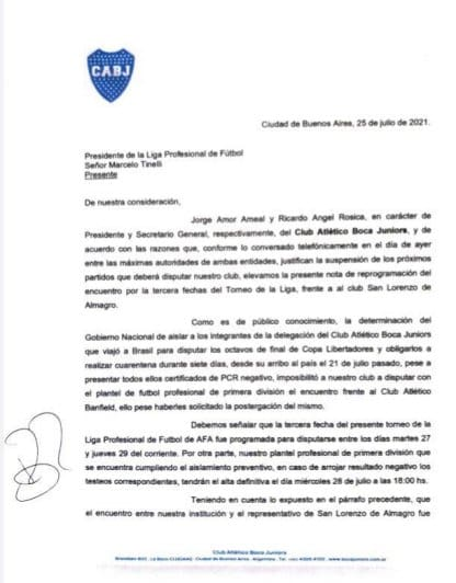 Boca Letter