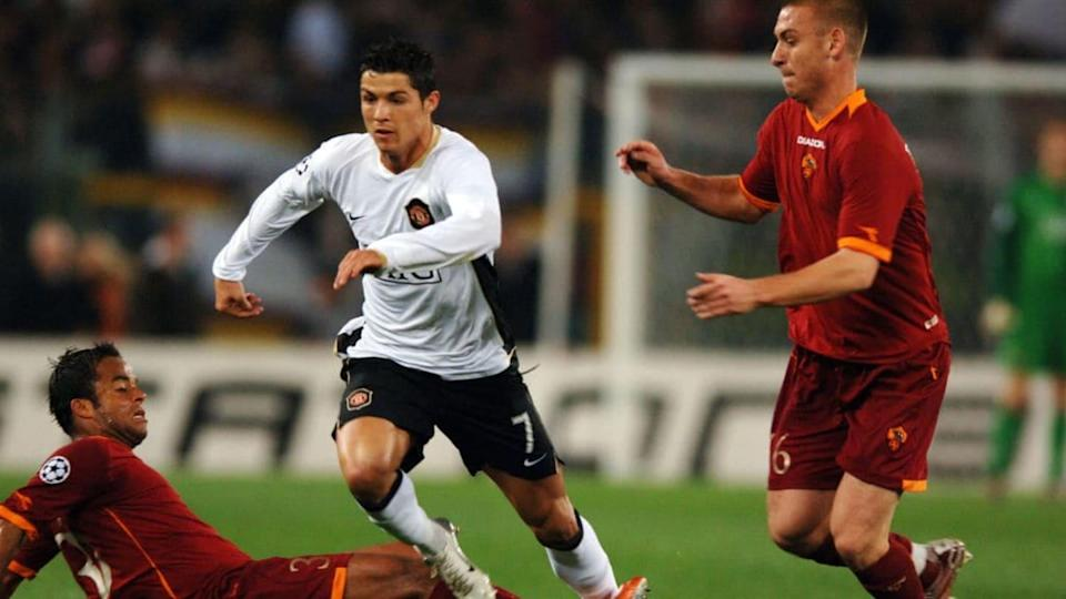 Cristiano Ronaldo in a match with Manchester United | Etsuo Hara / Getty Images