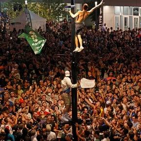 The mass celebrations of Milwaukee NBA champion