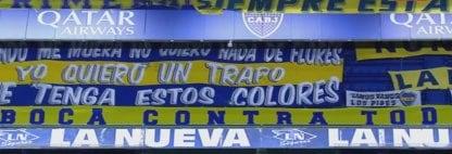 """Boca against everyone, everyone against Boca"" - Flag"