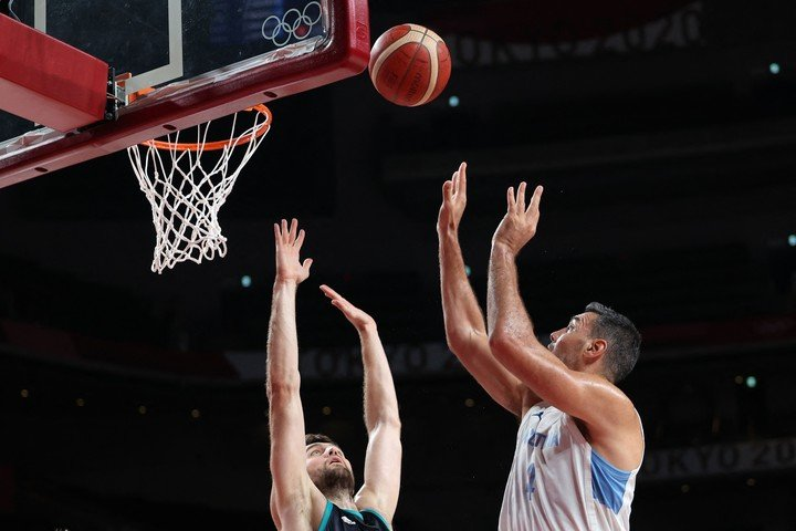 Luifa was one of the best in Argentina: he scored 23 points (AFP):