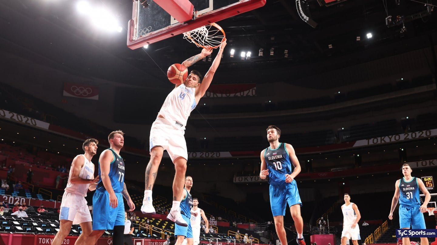 1627542410 Argentina vs Spain in basketball for the Olympic Games what