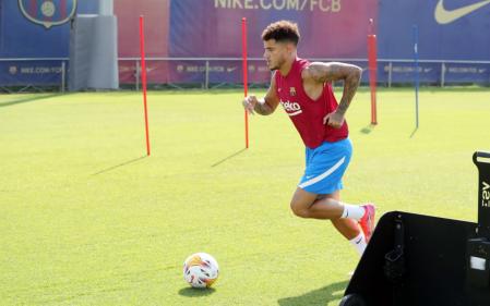 Philippe Coutinho did solo training at the Ciutat Esportiva