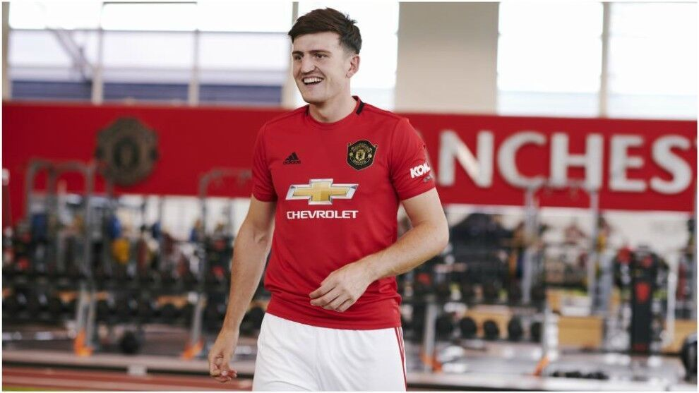 Harry Maguire in a match with Manchester United.