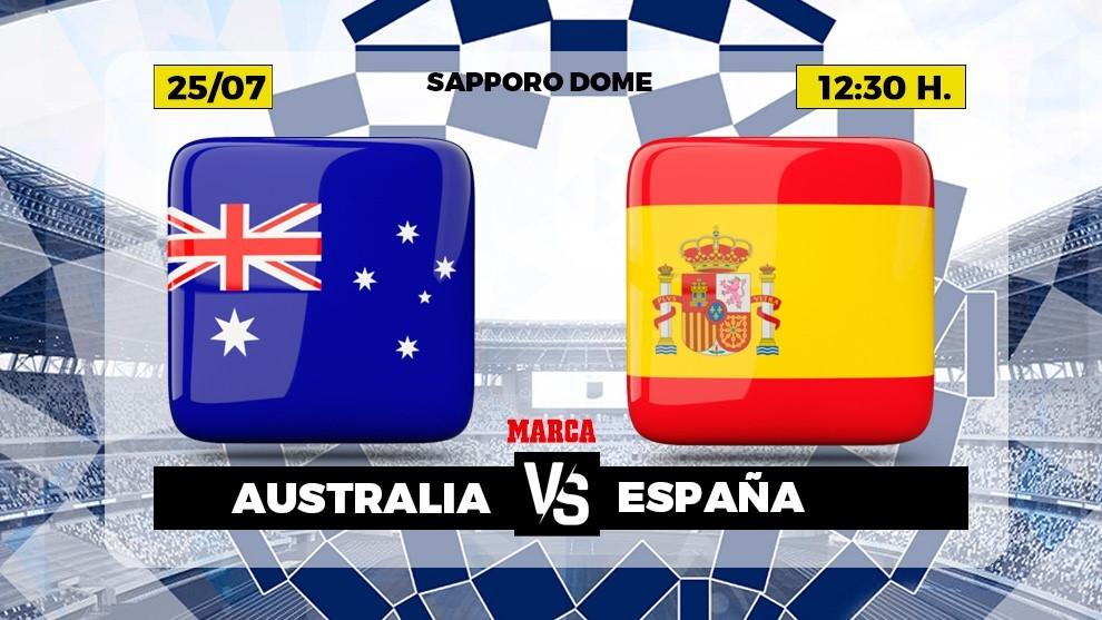Australia Spain live Football Olympic Games