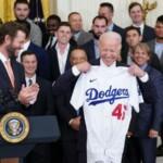 Biden greets Dodgers on White House visit