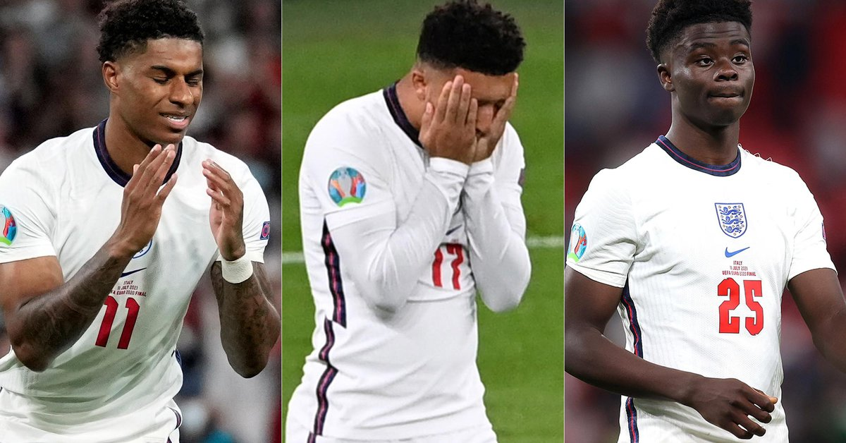 Boris Johnson condemned the racist insults against English footballers who