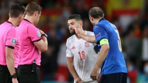 """Chiellini: """"Alba made a mistake in the 'flown' and I made him notice jokingly"""""""