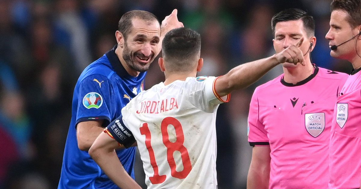 Chiellini confessed what he said to Jordi Alba before the controversial penalty shootout between Italy and Spain