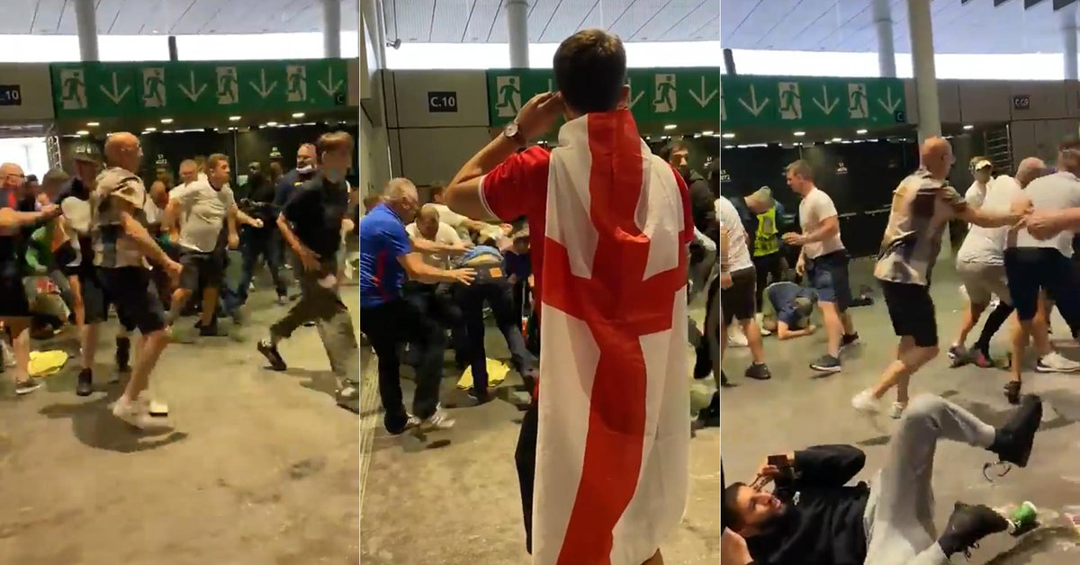 Disgusting attitude of English fans after the defeat: they left Wembley before the award ceremony and ambushed Italian fans