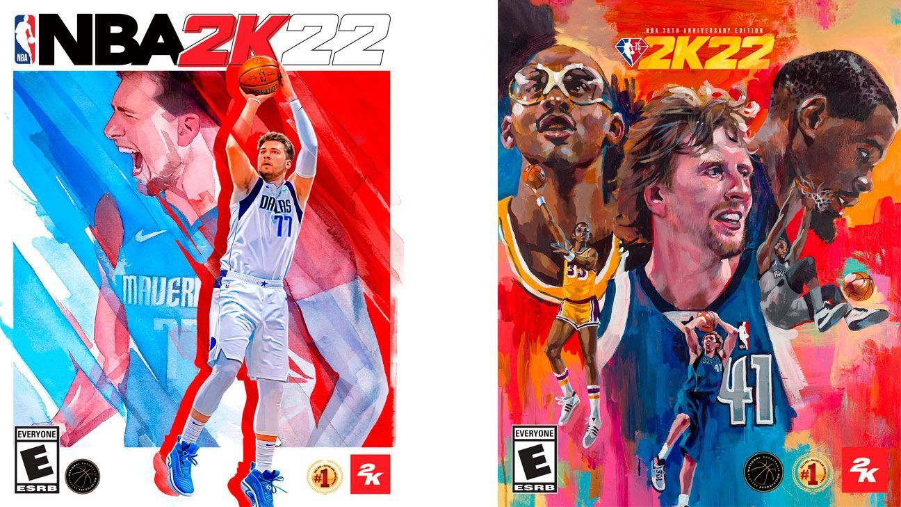 Doncic Durant Nowitzki and Abdul Jabbar the faces of NBA 2K22