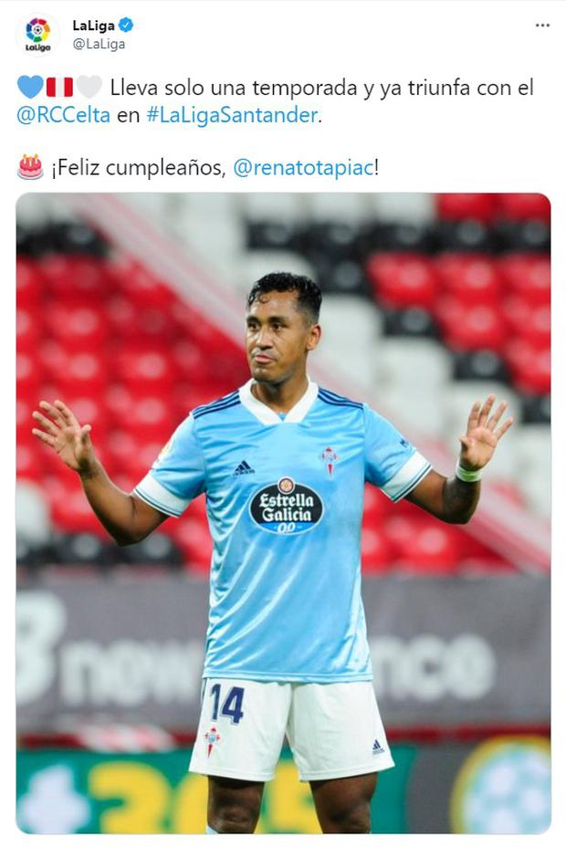 Renato Tapia was greeted for his birthday. (Photo: Twitter)