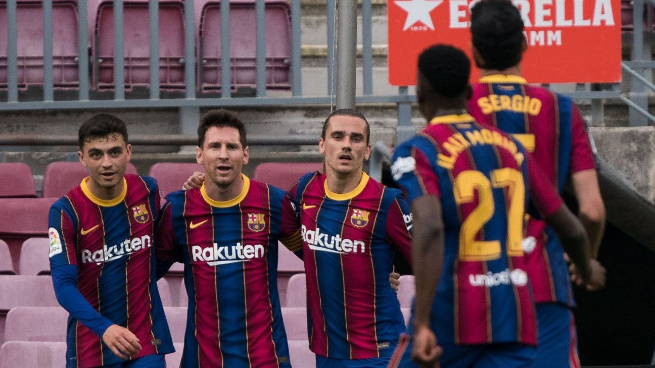 How does Barcelona create space for Messis new contract
