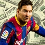 How much money did Messi stop making a day after being a free agent?